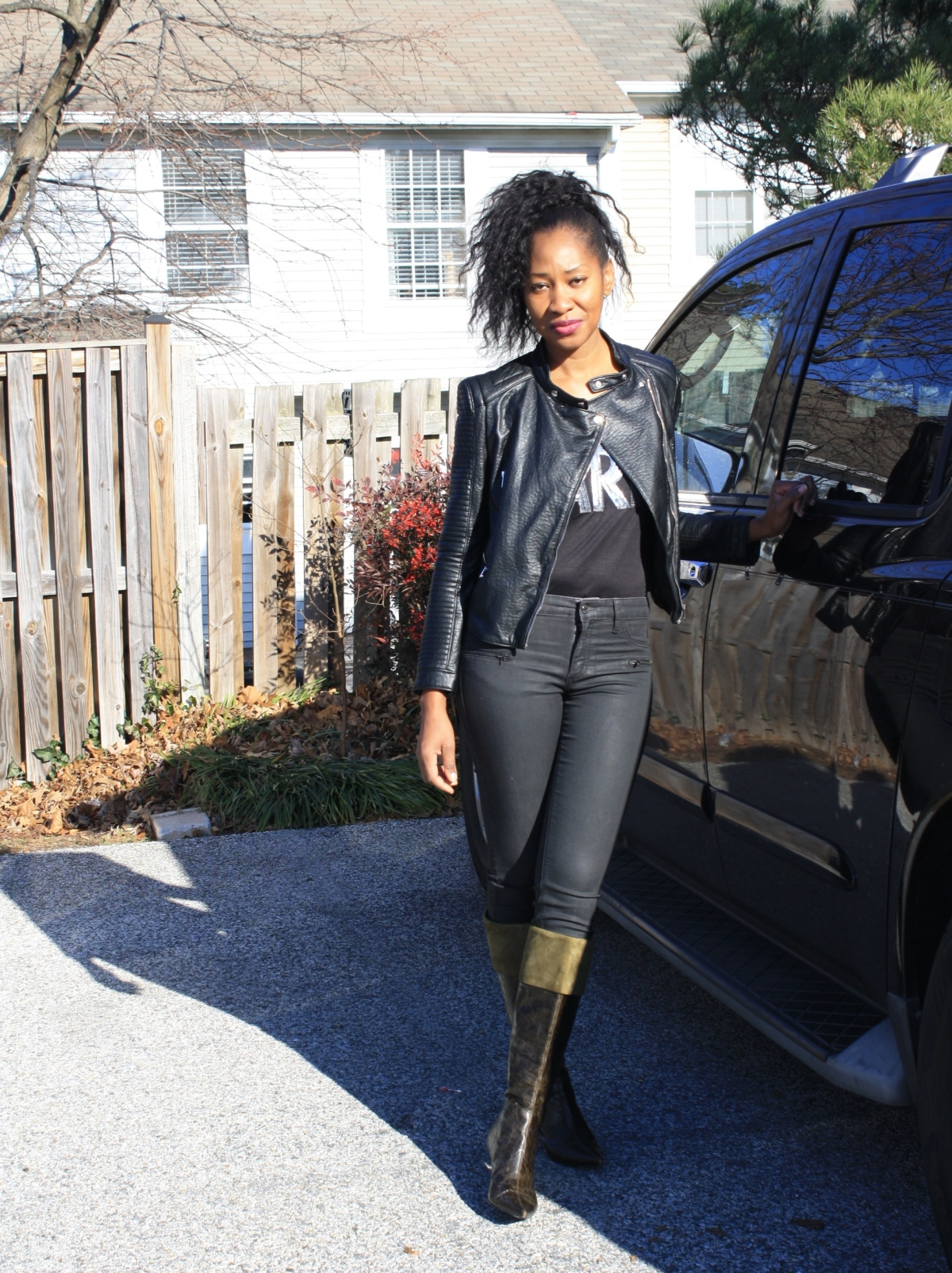 Simple fashion styling through thewinter
